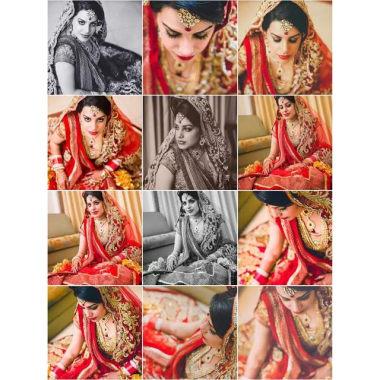Bride Posing For Beautiful Clicks