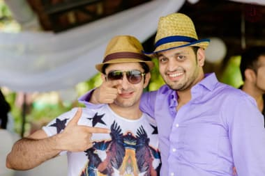 Groom With Friend In Cocktail Party