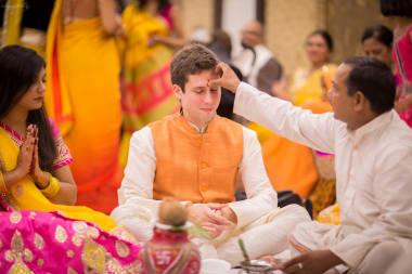 Tilak At Haldi Ritual