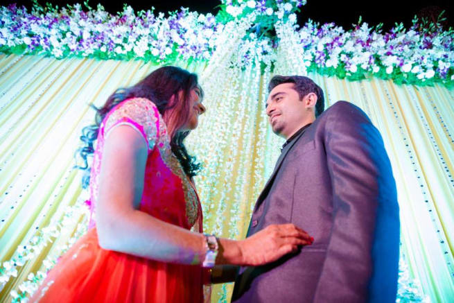 Couple Photograph In Sangeet