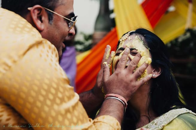 The Haldi Ceremony!