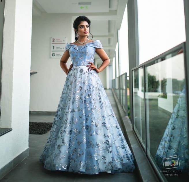 Light Blue Gown Dress