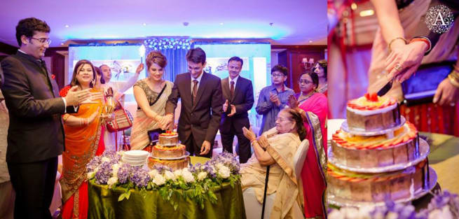 Cake Cutting By Bride And Groom