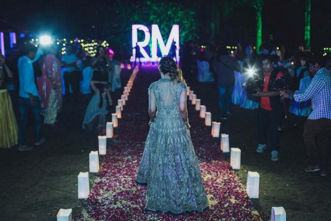 Brides Entry In Sangeet