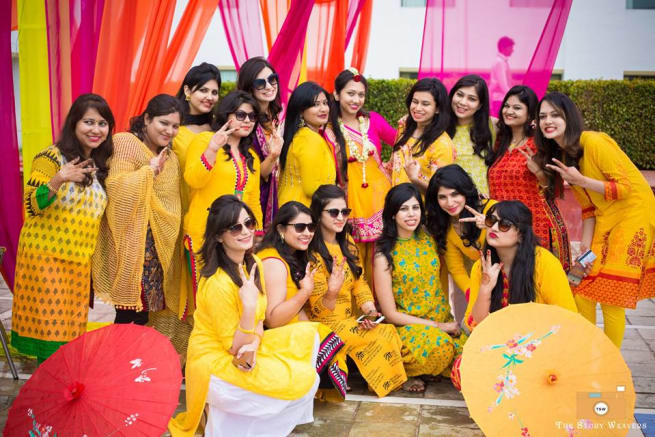 Group Photography With Bride