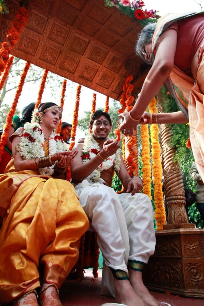 Wedding Rituals With Bride And Groom