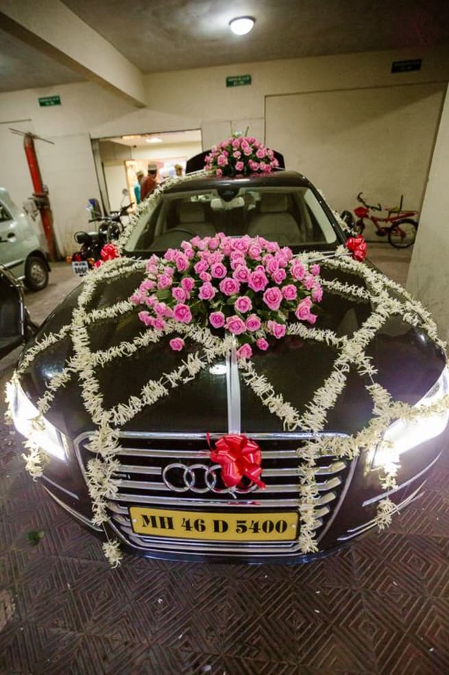 Car Decoration Photography Ideas Indian Wedding Inspiration Photos