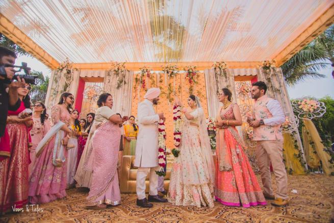 Bride And Groom With Varmala