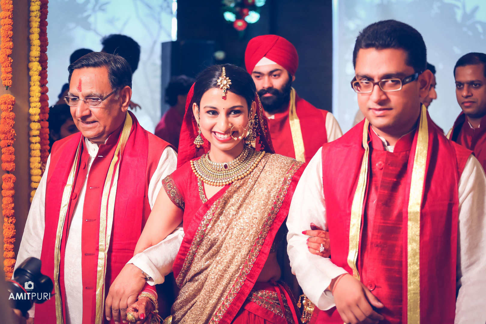 clicks with bride:amit puri photography