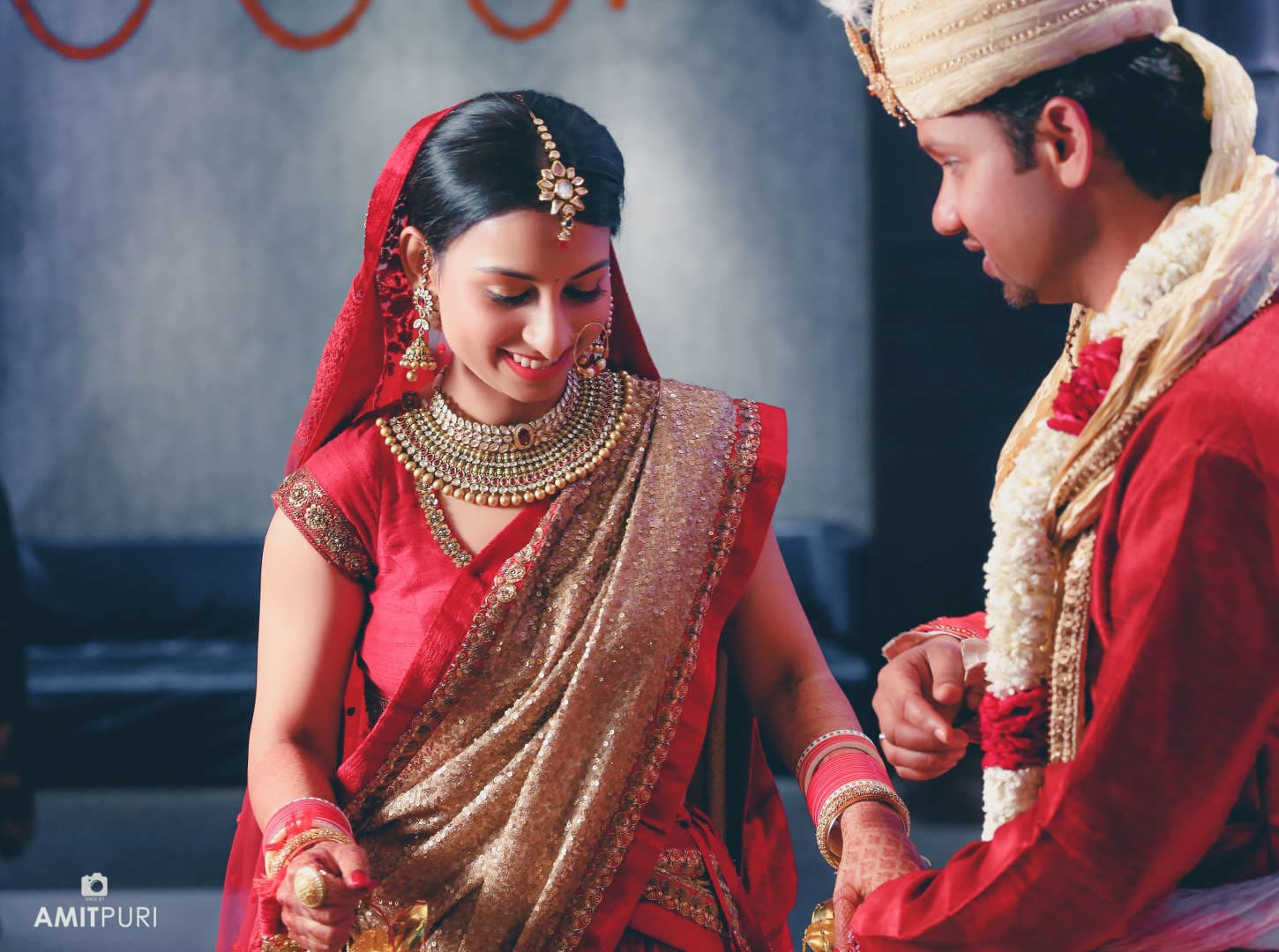 dance by wedding couple:amit puri photography
