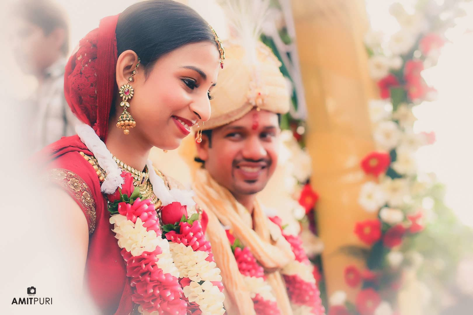 groom seeing bride:amit puri photography