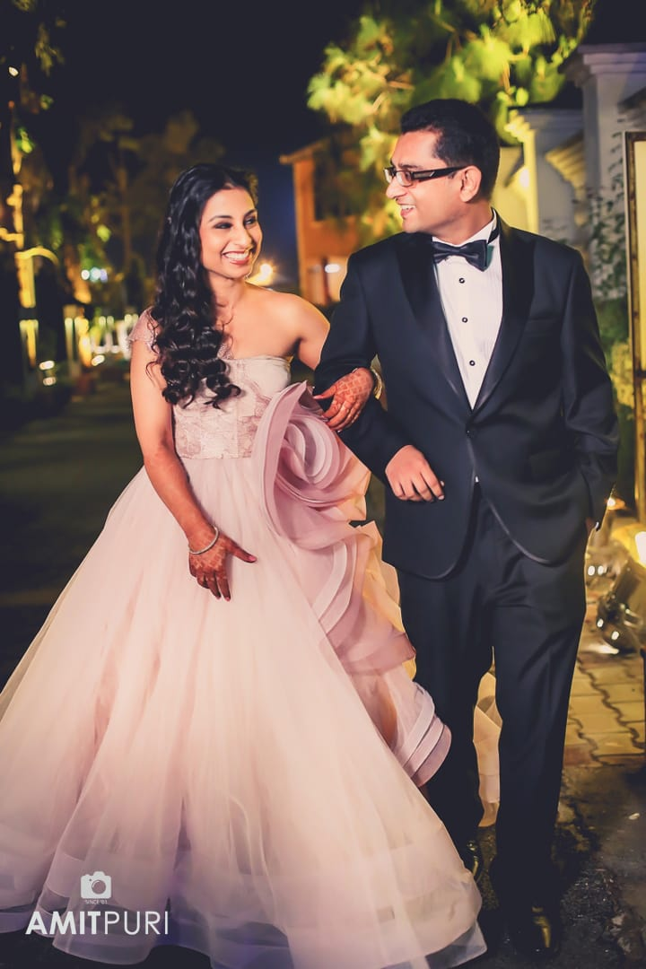 wedding couple entry:amit puri photography