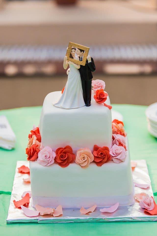 wedding cake:mahima bhatia photography