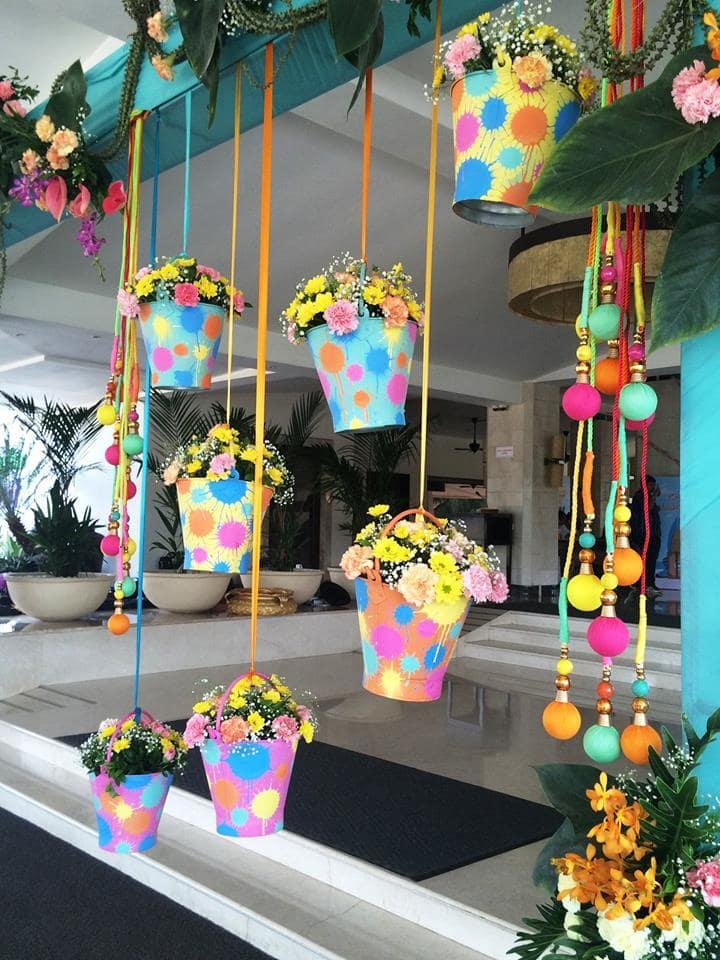 flower decoration:purple tree event solutions