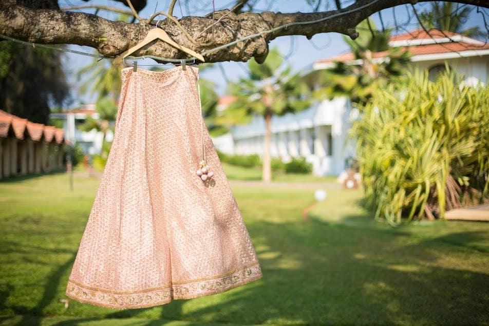 bridal lehenga:purple tree event solutions
