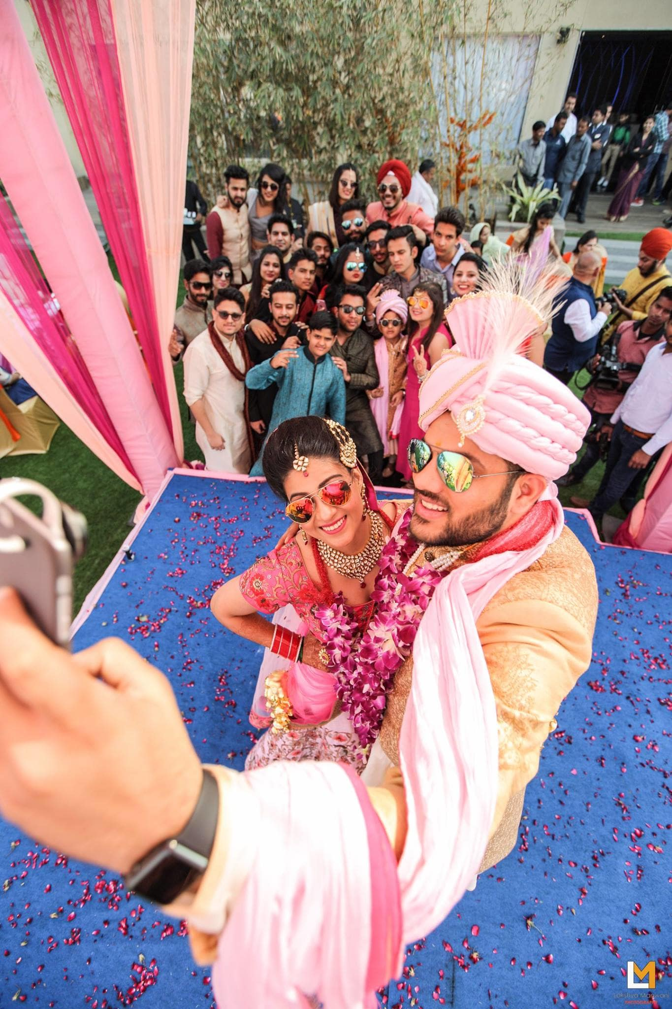 wedding selfie:lakshya manwani photography