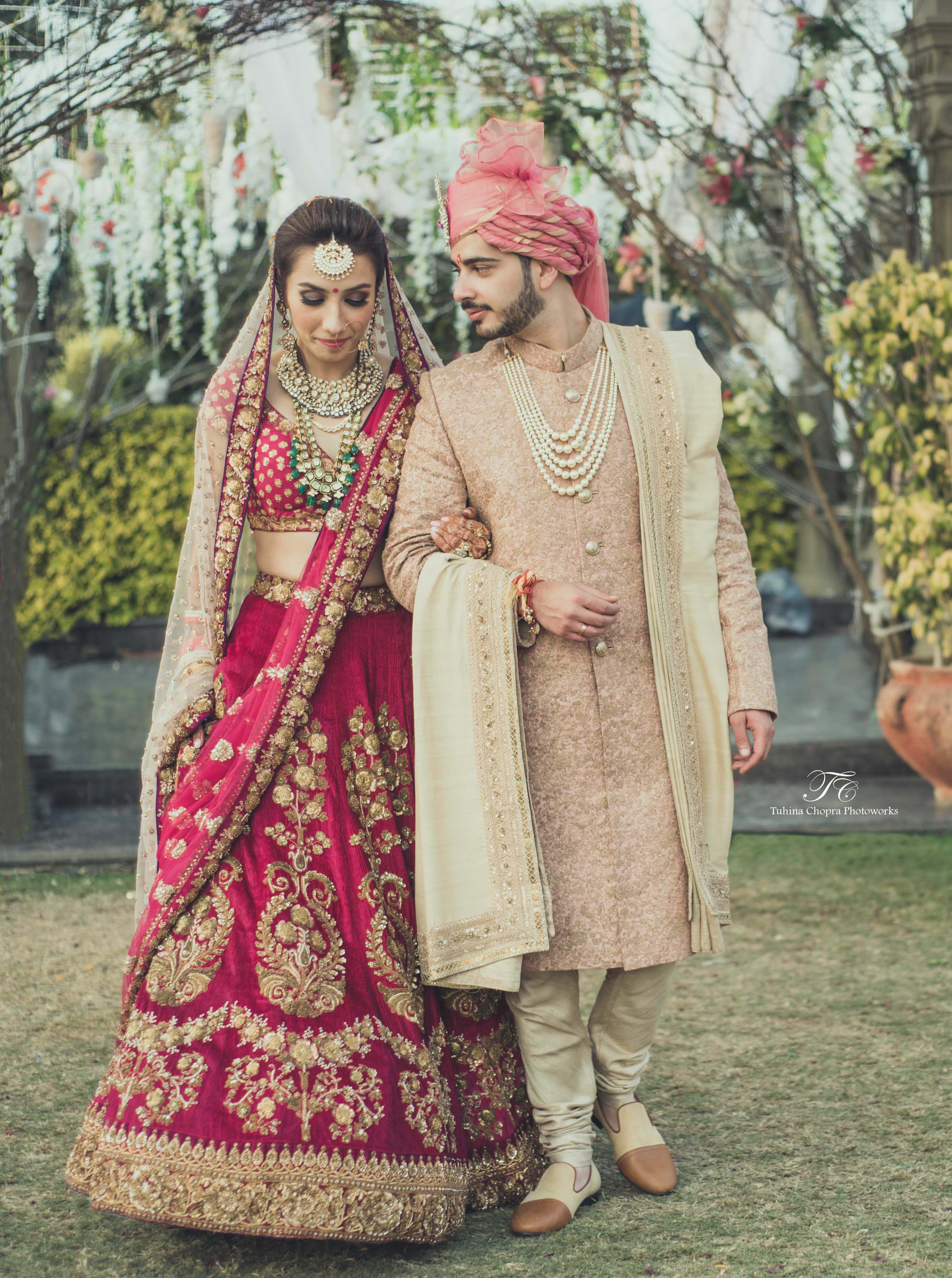 bride and groom:tuhina chopra photoworks