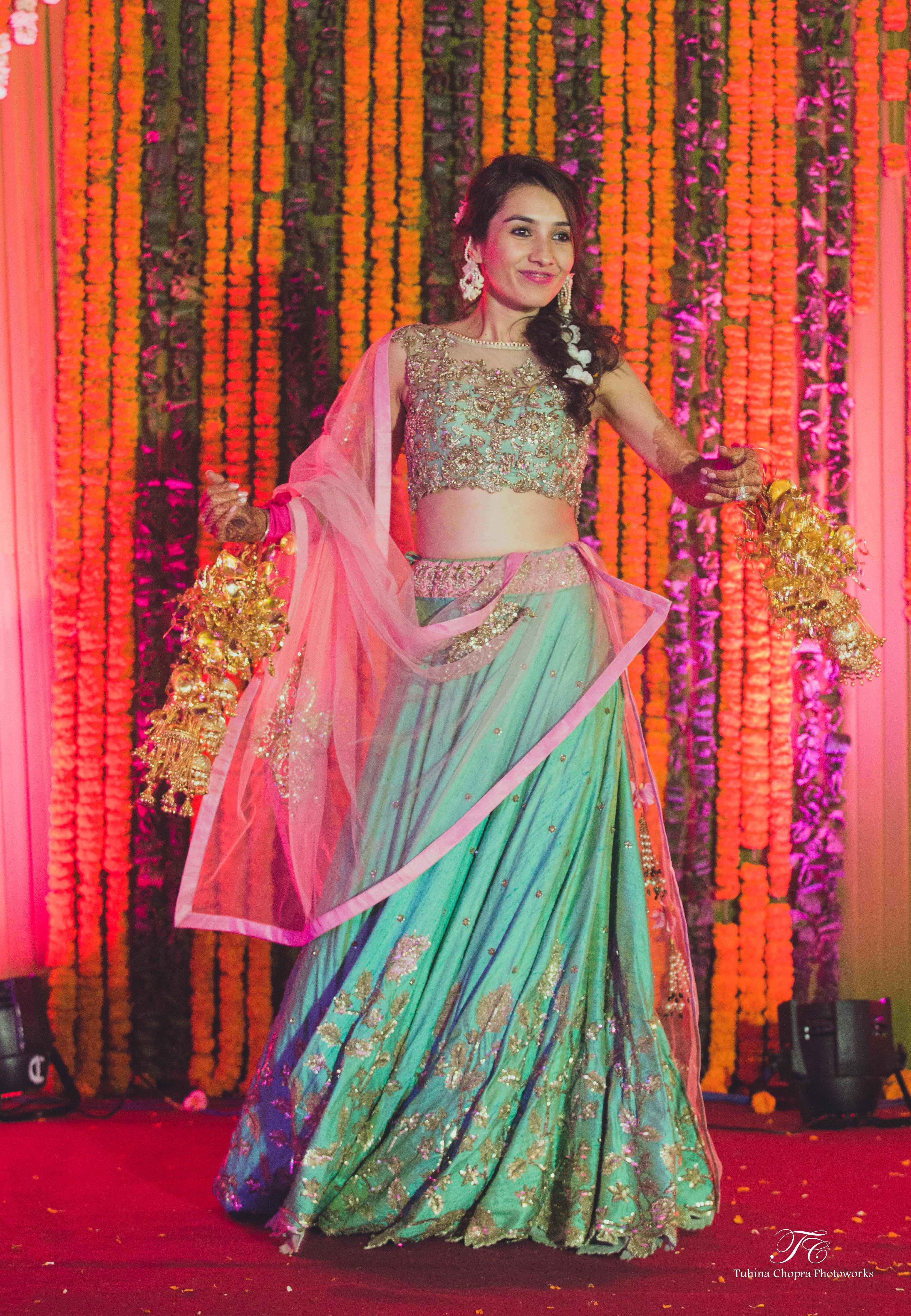 bride and sangeet:tuhina chopra photoworks