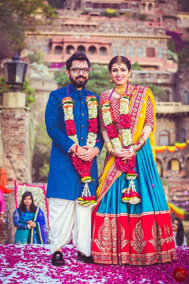 wedding jaimala shot: