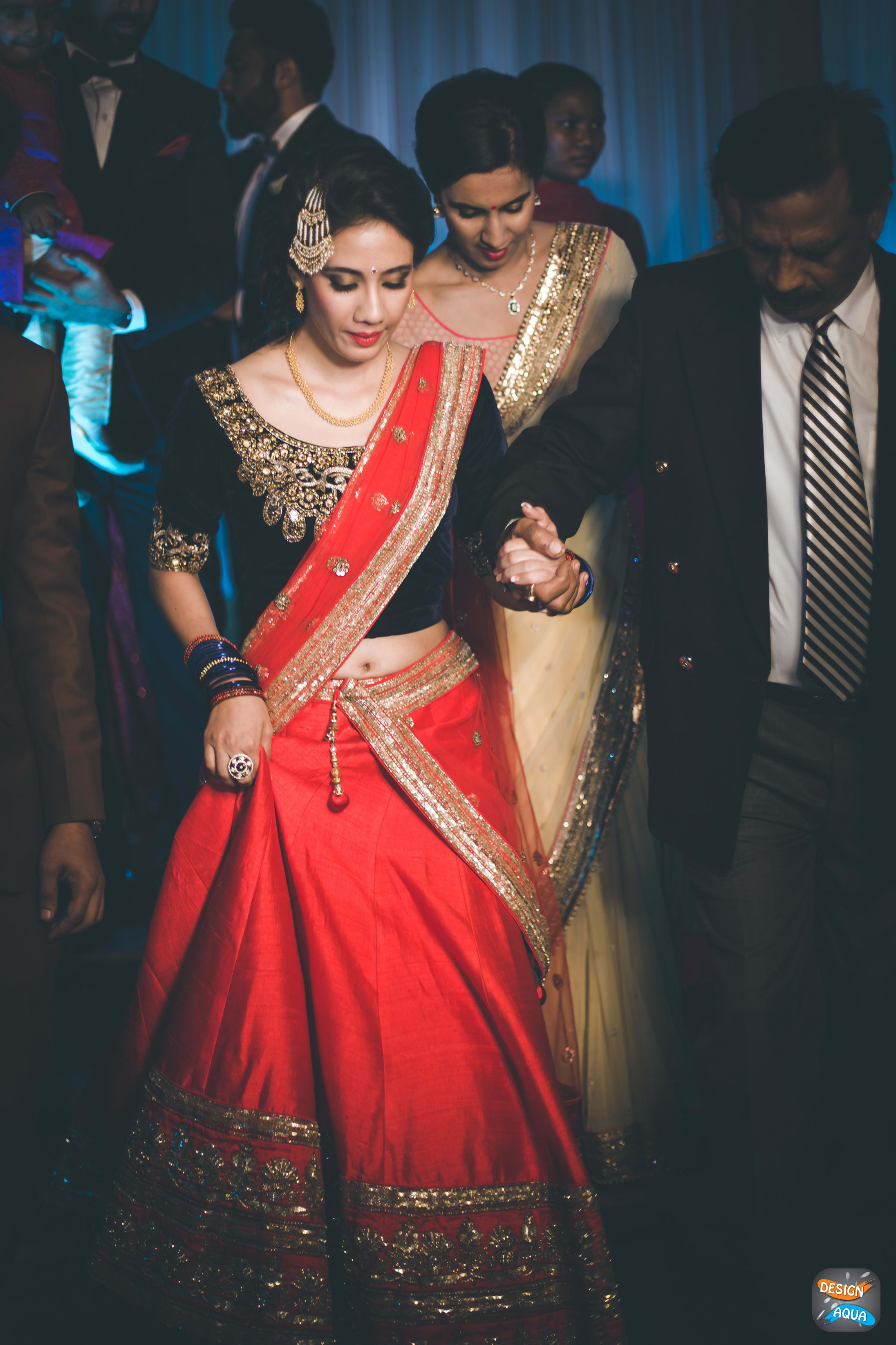 bridal shot:design aqua, asiana couture, rani pink