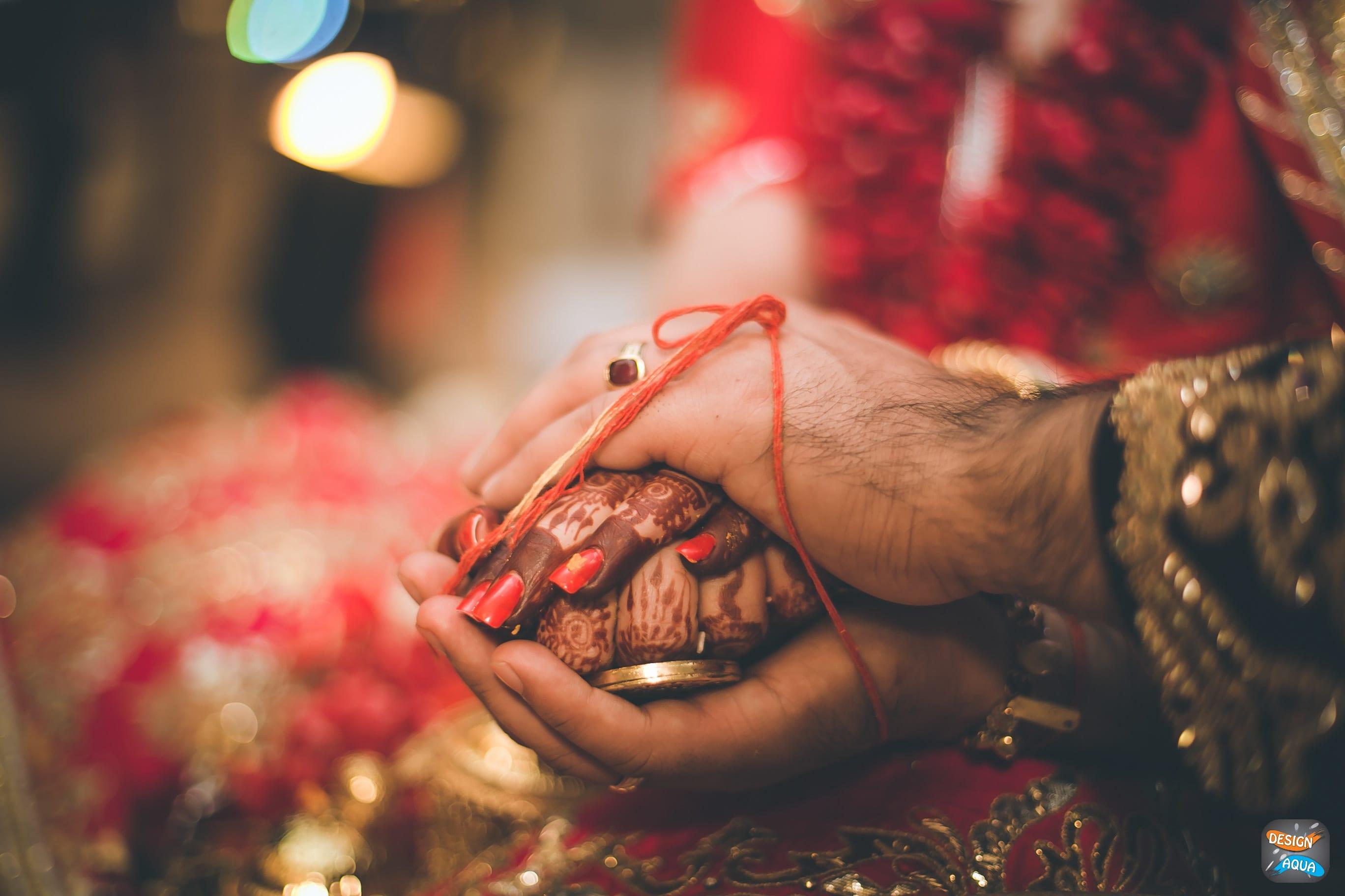 wedding ritual shot:design aqua, asiana couture, rani pink