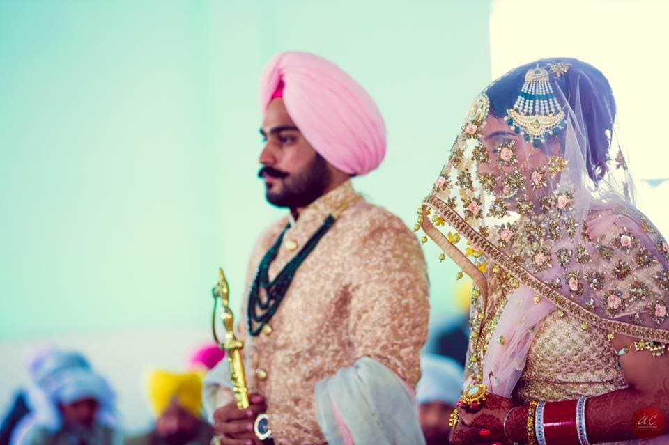 bride and groom shot:sabyasachi couture pvt ltd, art capture production
