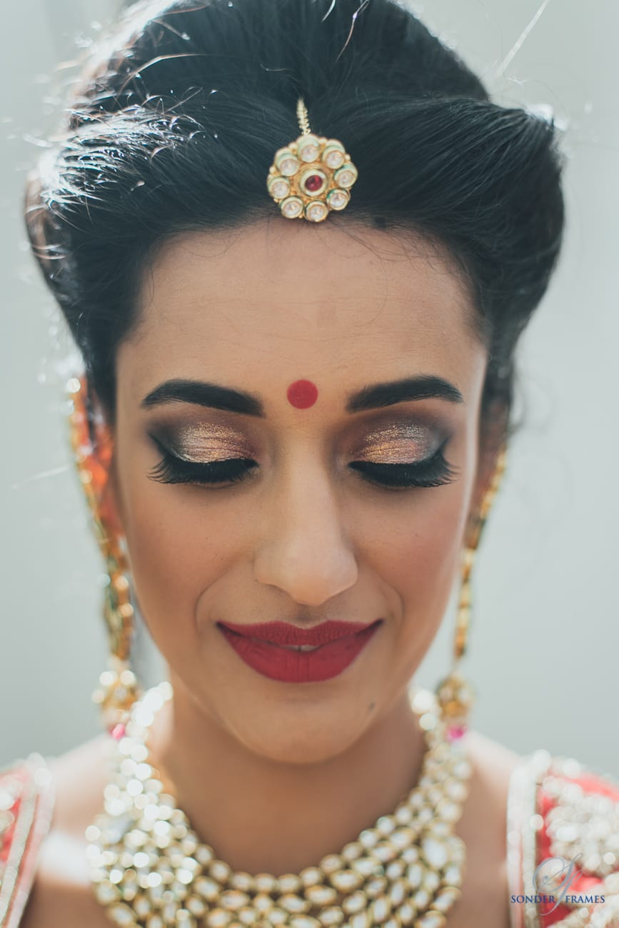 bridal makeup:bridal makeup by kajal sharma, sonder frames, stallion events