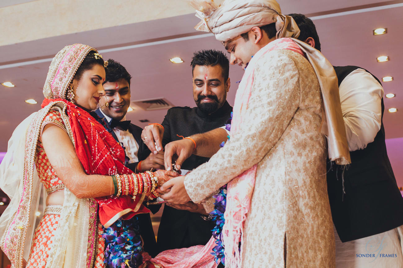 wedding ritual:bridal makeup by kajal sharma, sonder frames, stallion events