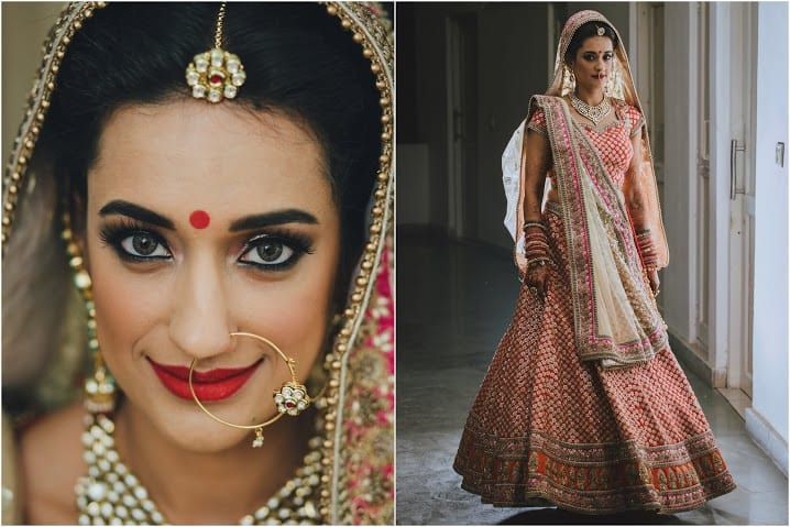 bridal photography:bridal makeup by kajal sharma, sonder frames, stallion events