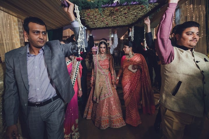 bridal entry:bridal makeup by kajal sharma, sonder frames, stallion events