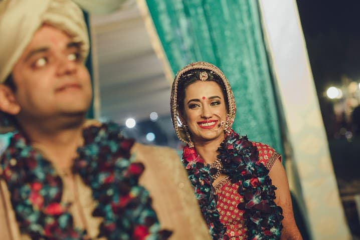 wedding ritual of phere:bridal makeup by kajal sharma, sonder frames, stallion events