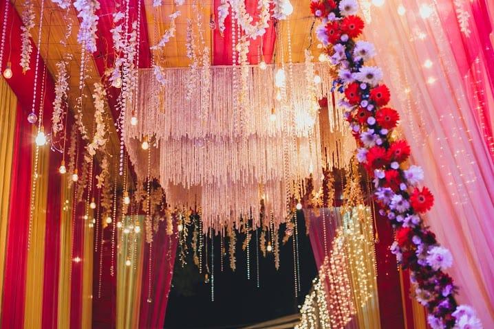 orchid flower decoration:bridal makeup by kajal sharma, sonder frames, stallion events