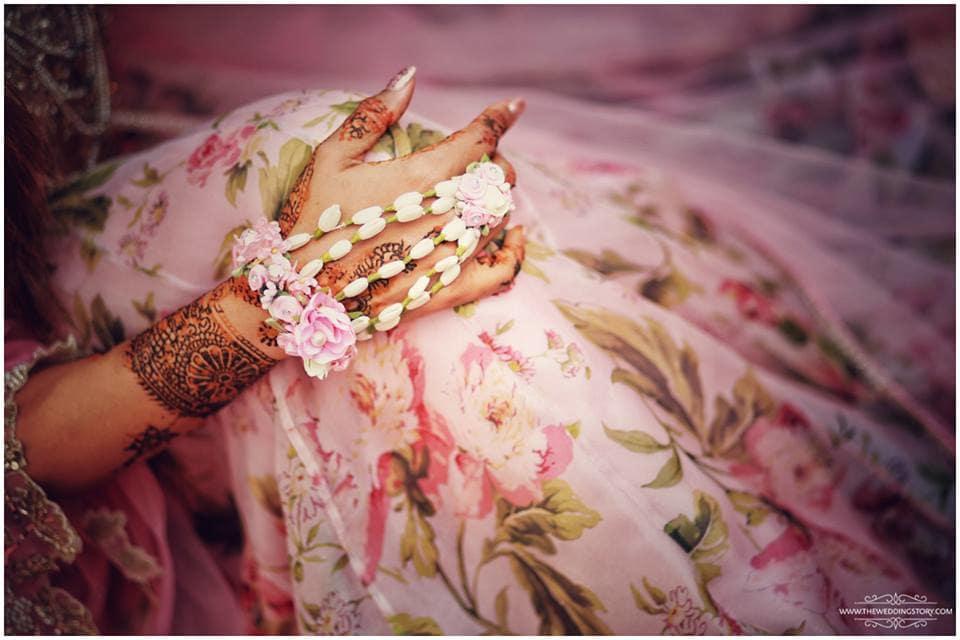 flower jewellery:the wedding filmer, sabyasachi couture pvt ltd, anushree reddy