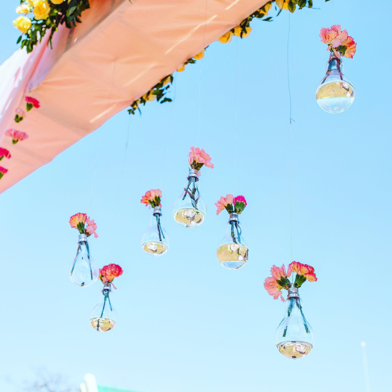 hanging flower decoration:gujralsons, sabyasachi couture pvt ltd