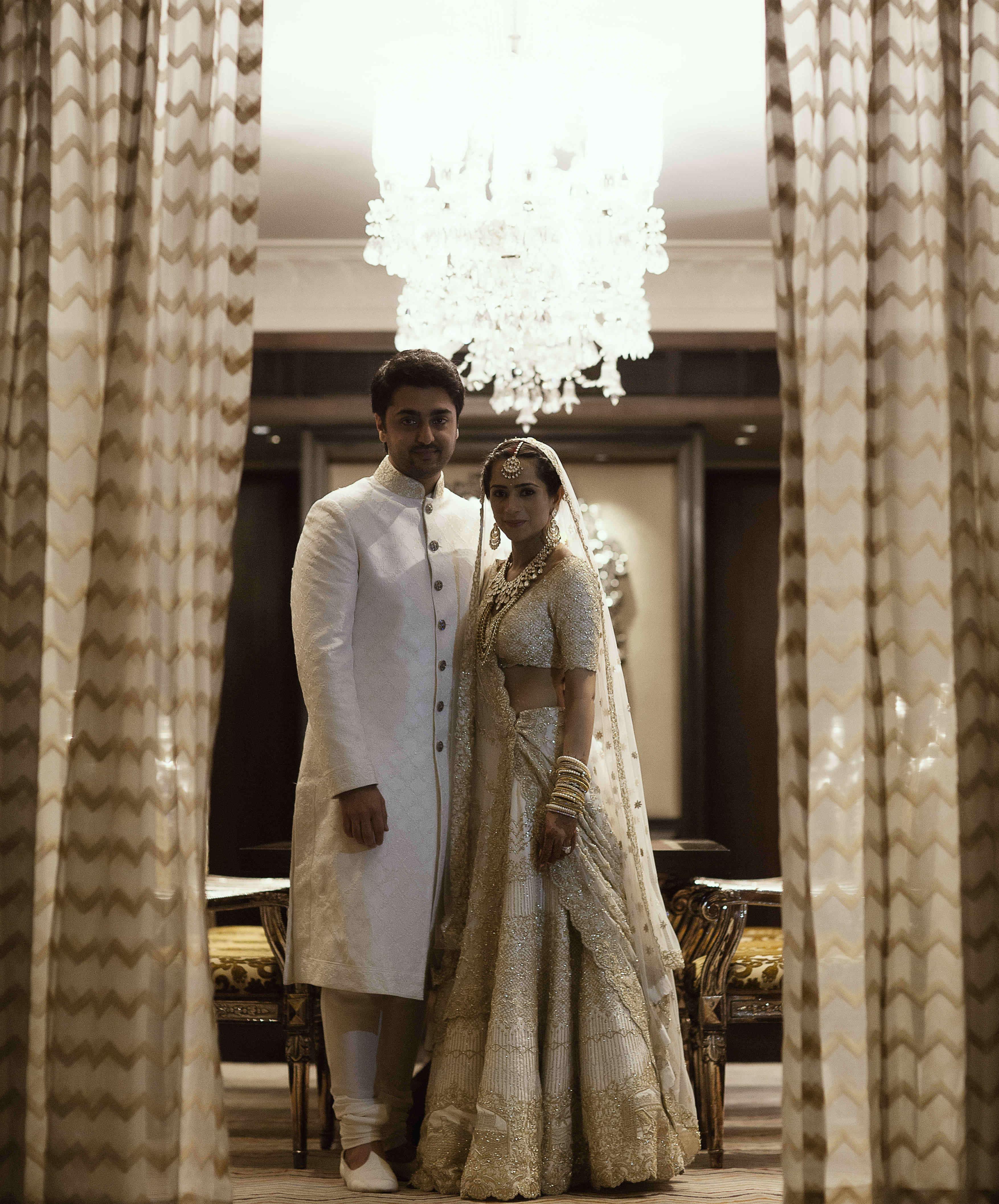 royal wedding outfit:tribhovandas bhimji zaveri ltd., namrata soni makup artist