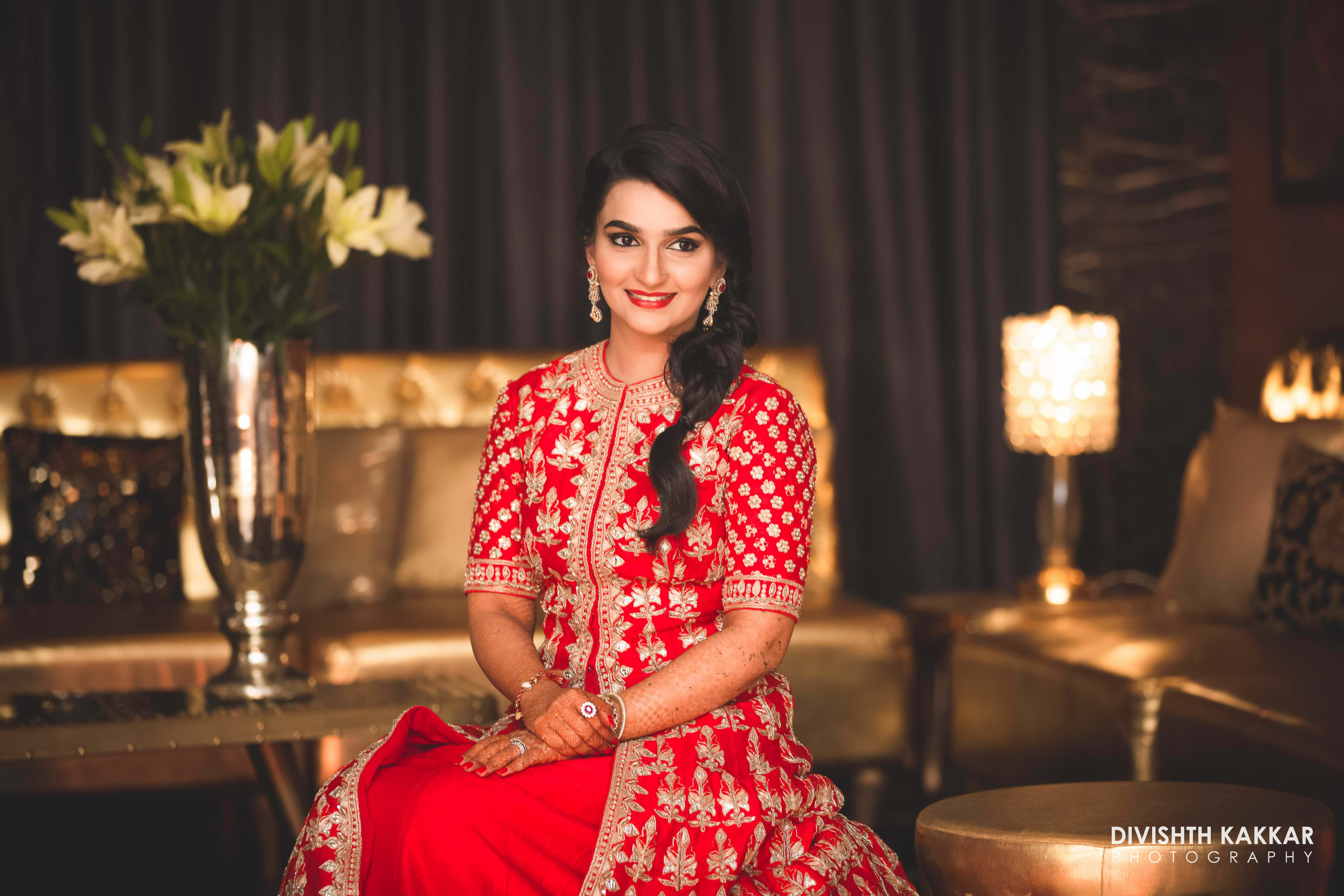 the bride inderpreet!:jw marriott, taj chandigarh, divishth kakkar photography, prerna khullar makeup artist, sabyasachi couture pvt ltd, manish malhotra