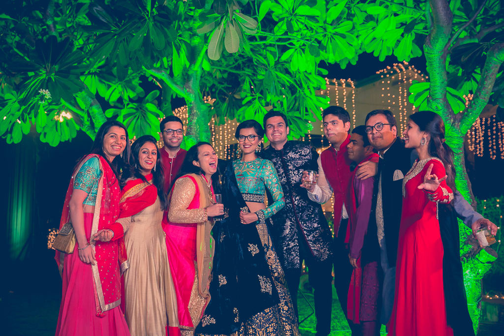 the perfect groupfie!:kundan mehandi art, dipak colour lab pvt ltd, mahima bhatia photography, asiana couture, jasmeet kapany hair and makeup, sabyasachi couture pvt ltd