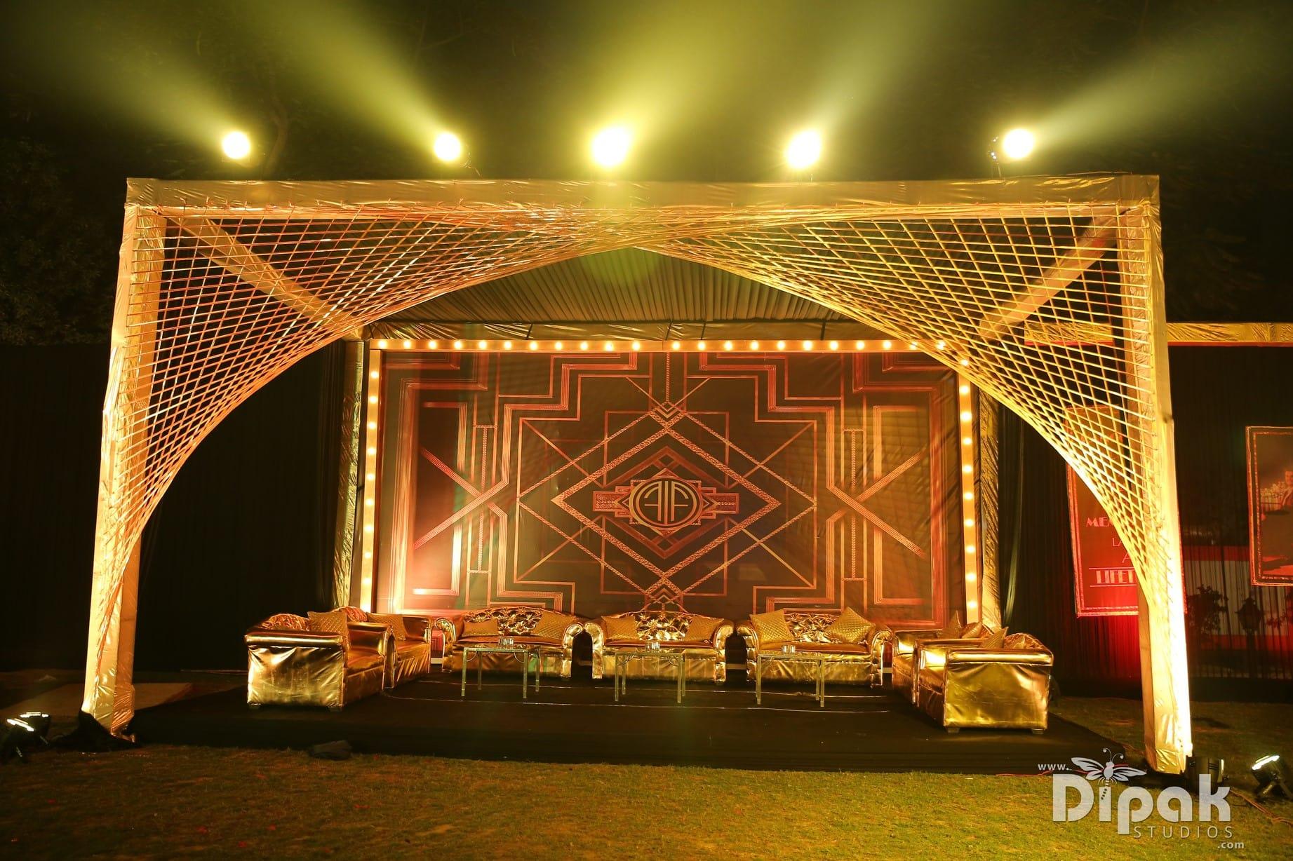 the grand decoration!:kundan mehandi art, dipak colour lab pvt ltd, mahima bhatia photography, asiana couture, jasmeet kapany hair and makeup, sabyasachi couture pvt ltd