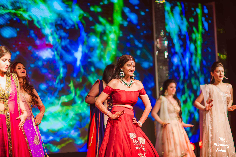 the group dance!:the wedding salad, manish malhotra, arpita mehta, sabyasachi couture pvt ltd