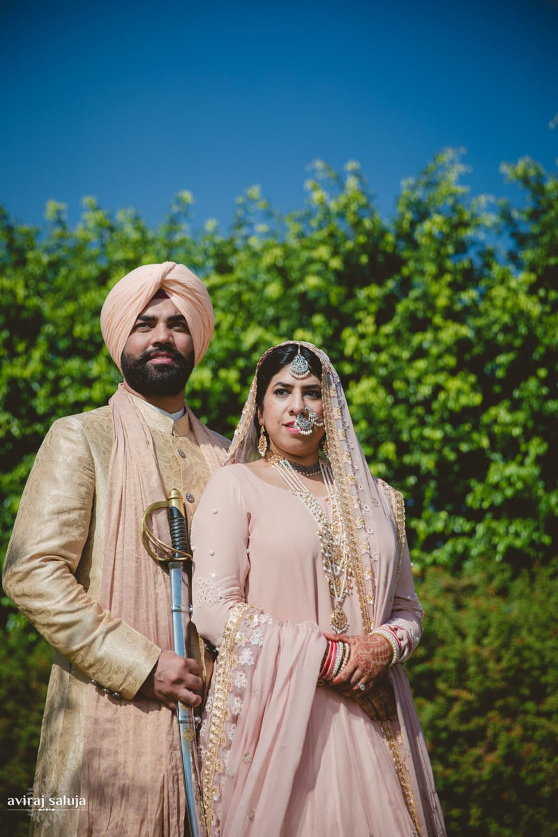 the regal couple!:aviraj saluja, nancy bhaika, hair and makeup by zareen bala, chandni tent house