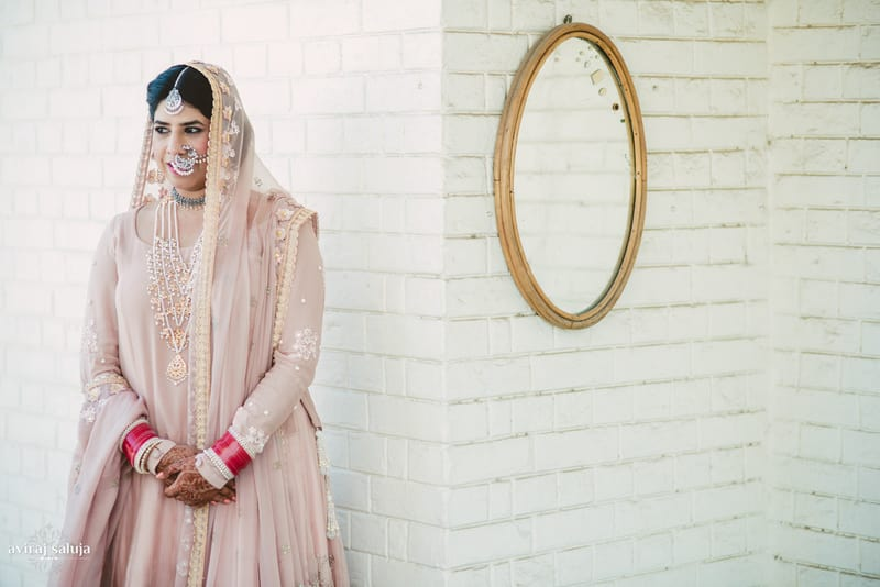pretty punjabi bride!:aviraj saluja, nancy bhaika, hair and makeup by zareen bala, chandni tent house