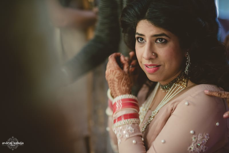 the beautiful bride!:aviraj saluja, nancy bhaika, hair and makeup by zareen bala, chandni tent house
