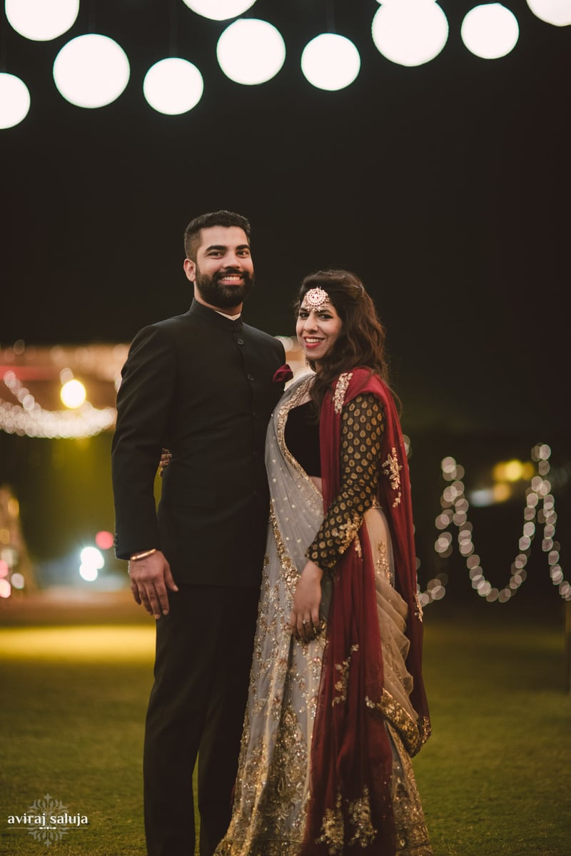 the royal couple!:aviraj saluja, nancy bhaika, hair and makeup by zareen bala, chandni tent house