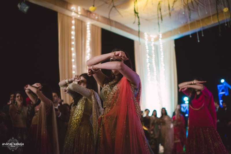 sangeet celebrations!:aviraj saluja, nancy bhaika, hair and makeup by zareen bala, chandni tent house