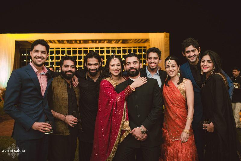 sangeet celebrations!:aviraj saluja, nancy bhaika, hair and makeup by zareen bala, chandni tent house