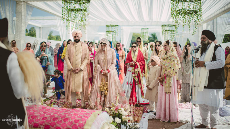 the grand wedding!:aviraj saluja, nancy bhaika, hair and makeup by zareen bala, chandni tent house