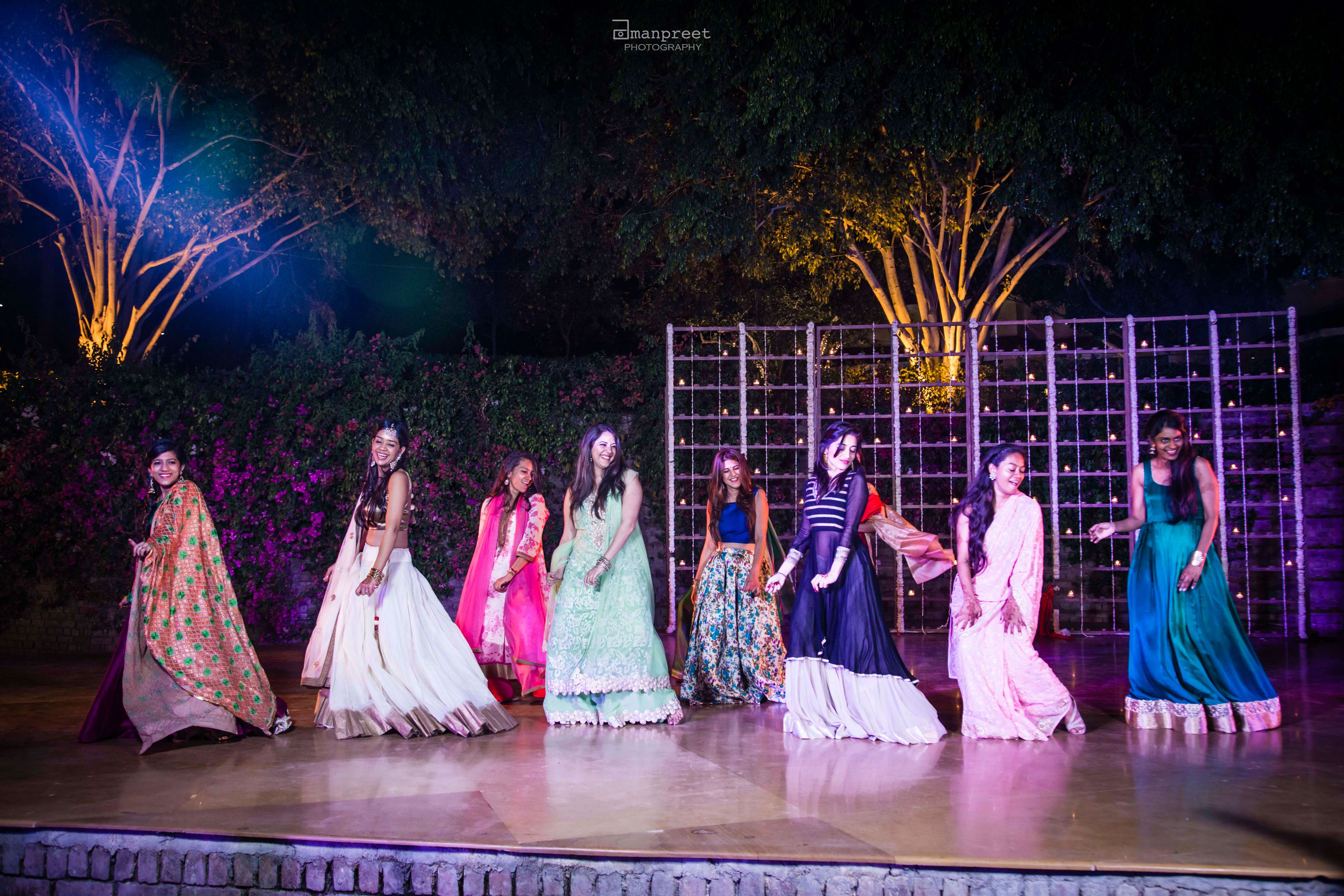 the group dance!:geetanjali salon, raju mehandi wala, amanpreet photography, ole couture