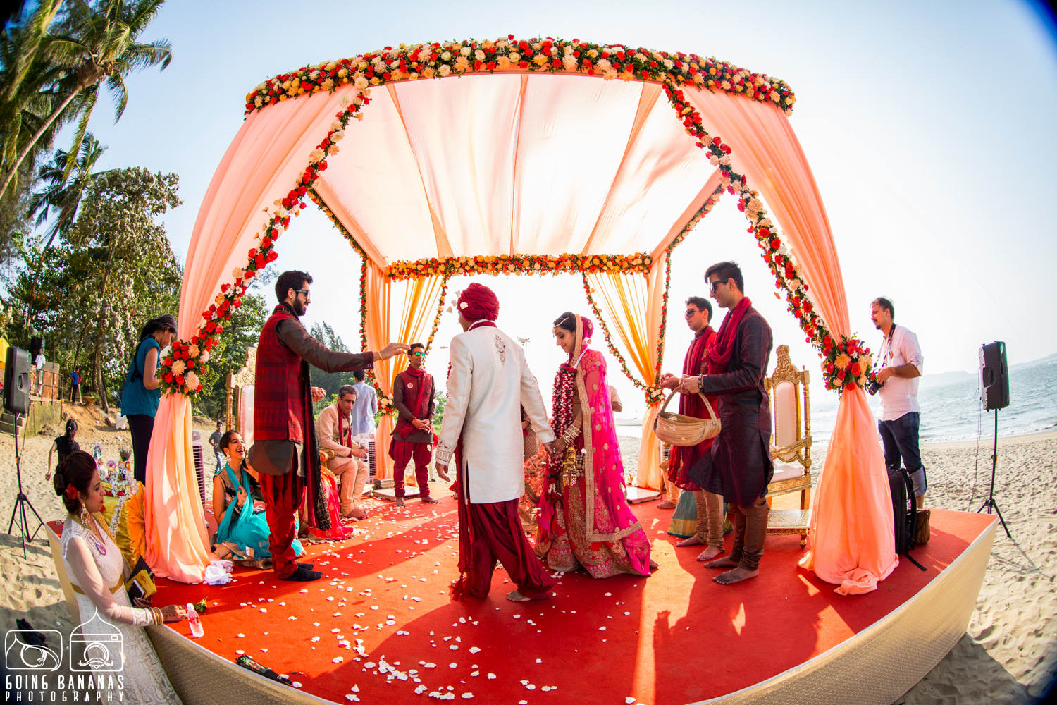 the goa wedding!:manyavar, going bananas photography, makeovers by sukanya, design tuk tuk