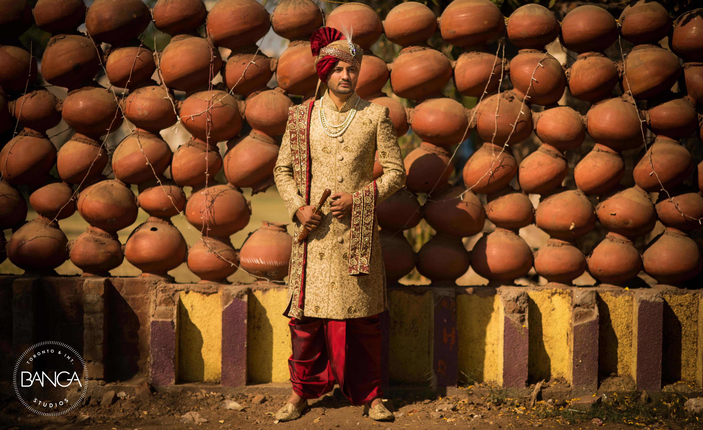 the dapper groom!:anita dongre timeless, shyamal and bhumika, anushree reddy, banga studios