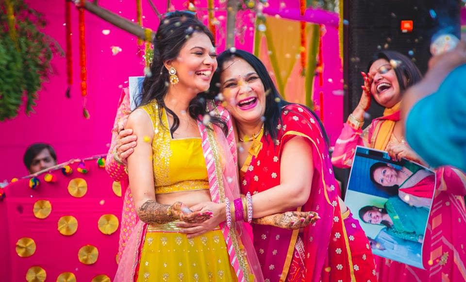 the bride and mom duo:girl in pink photography